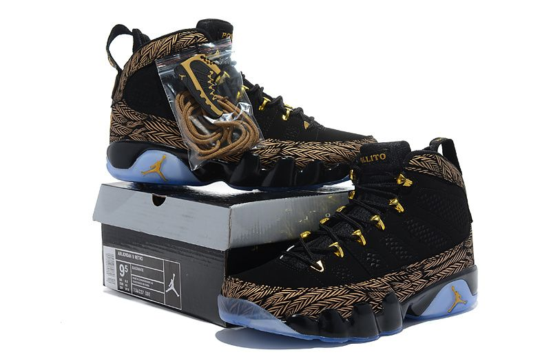 newest collection ad114 0f6a6 Air Jordan 9 Black Gold