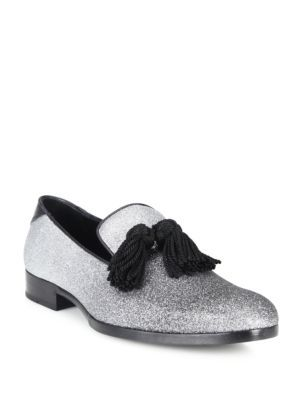 Jimmy Choo FOXLEY Black and Silver Degrad