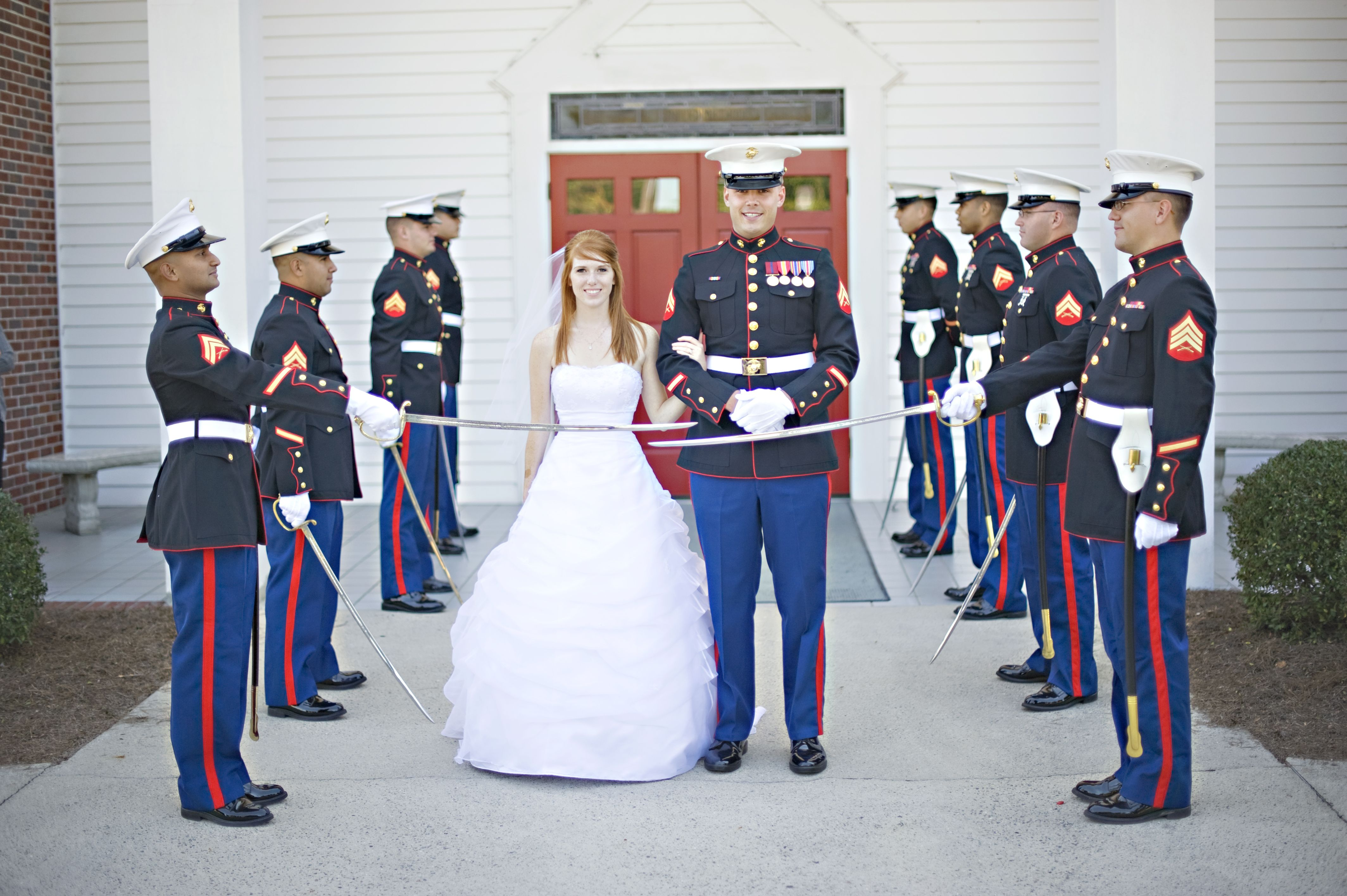 Marine Sword Ceremony Usmc Wedding Usmc Wedding Marine Wedding Dress Images