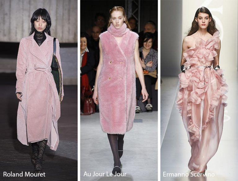 Resultado de imagen de pantone  2018 fall winter mellow rose looks