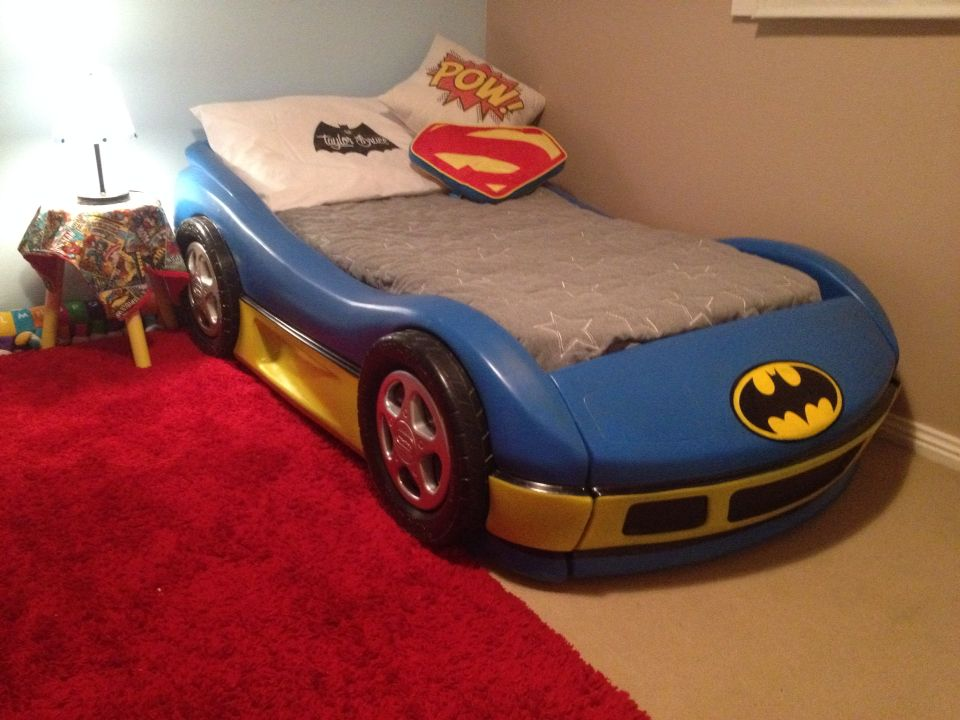 little tikes toddler bed batman batmobile DIY