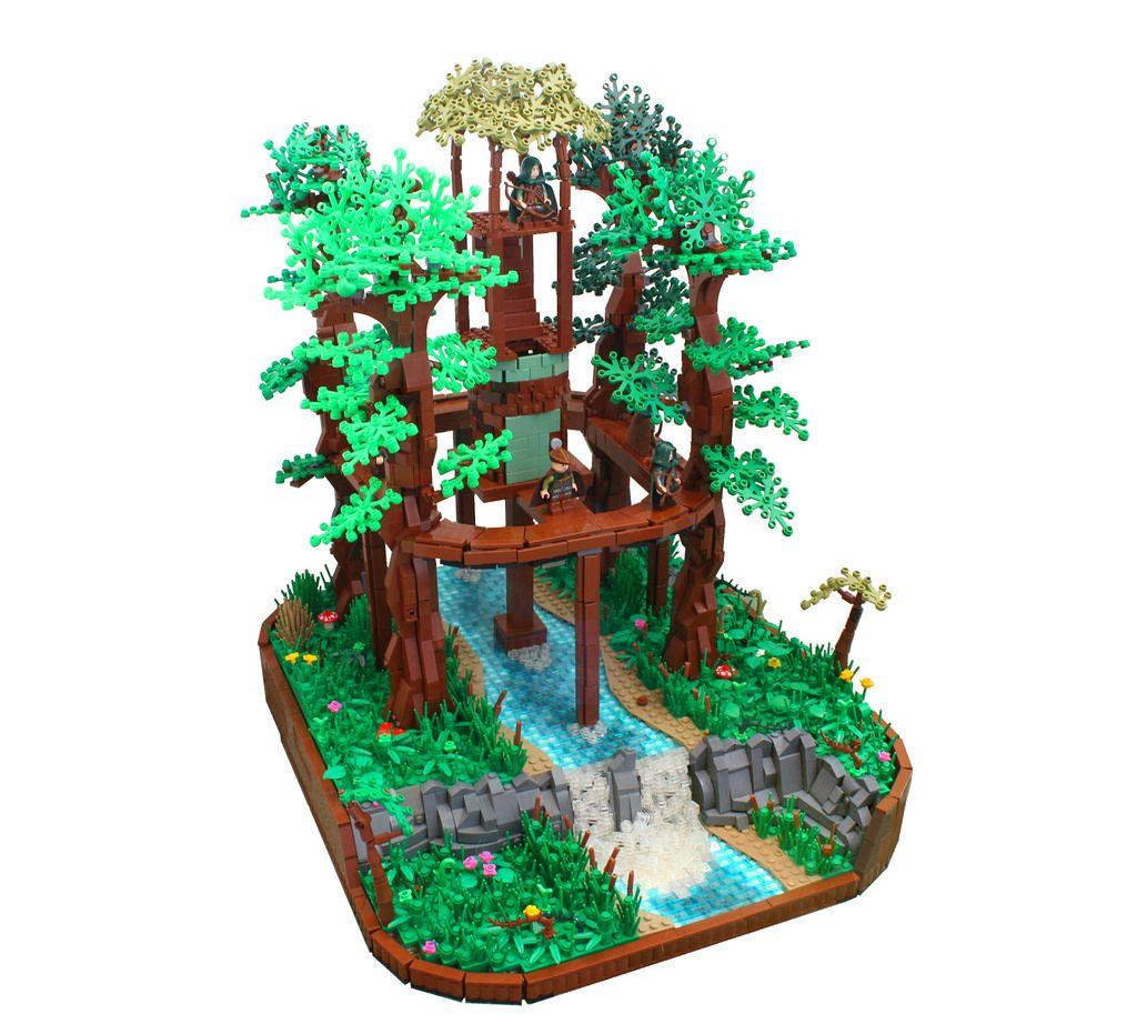 The Falcon S Nest Lego Tree Lego Projects Lego Minion