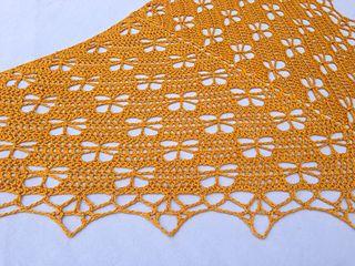 butterfly stitch prayer shawl free pattern | Crochet