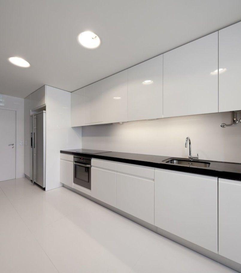Kitchen Cool White Modern Apartment Design Stunning Designing