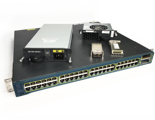 Cisco Catalyst 3560e 48td Gigabit Switch 48 Port 2x X2 10gb Sr 1x Pws 1x Fan Gigabit Switch Cisco Port