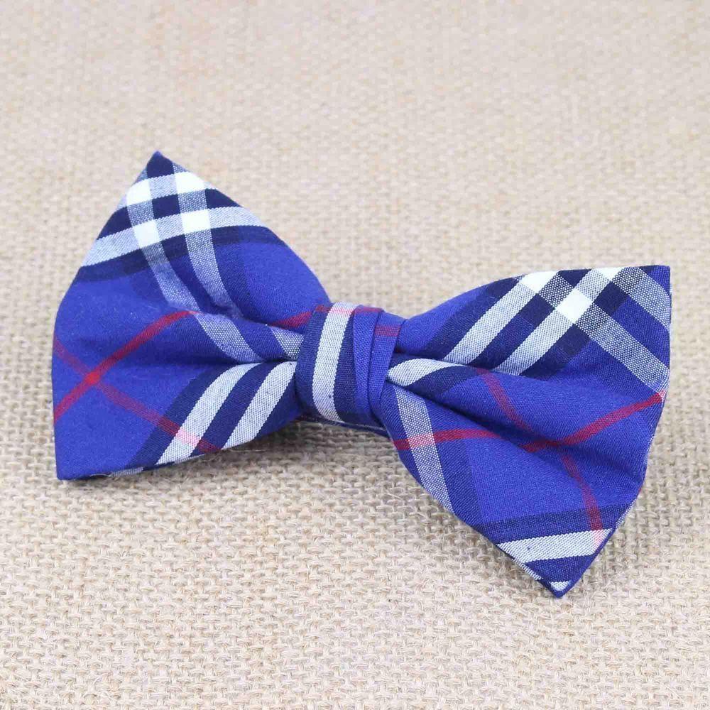 mens ties designer mftm  100% Cotton Soft Striped Rainbow Butterfly Men Bow Ties Designer Cravat