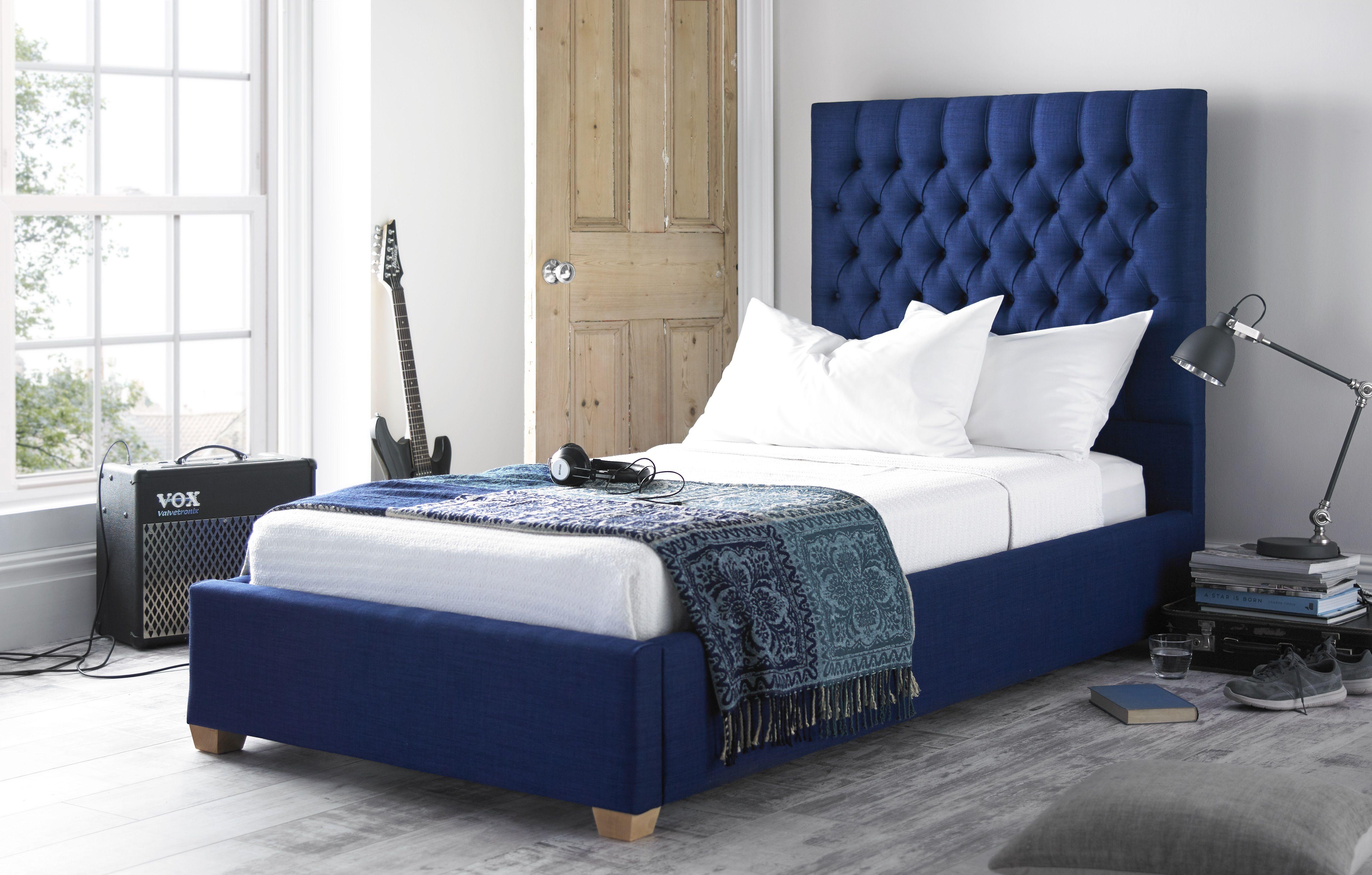 Blue Single Bed Кровати