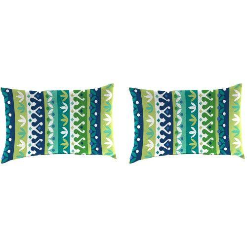 Jordan Manufacturing Indoor Outdoor Patio Toss Pillow Set Cottrell