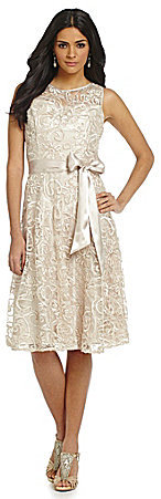 Jessica Howard Soutache Lace Fit-and-Flare Dress on shopstyle.com
