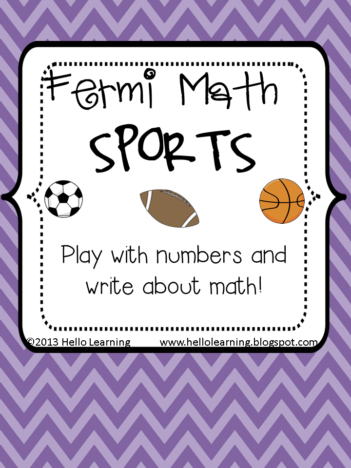 Challenging problem solving with a sports theme. Kids will love ...