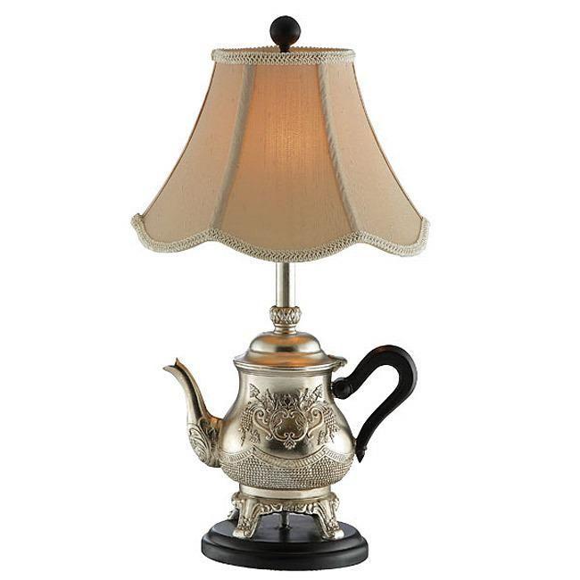 Silver Teapot Lamp Teapot Lamp Table Lamp Lamp