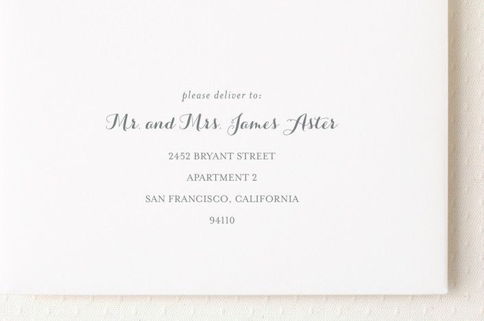custom envelope addressing (minted just lovely) Simply - fresh wedding invitation card create