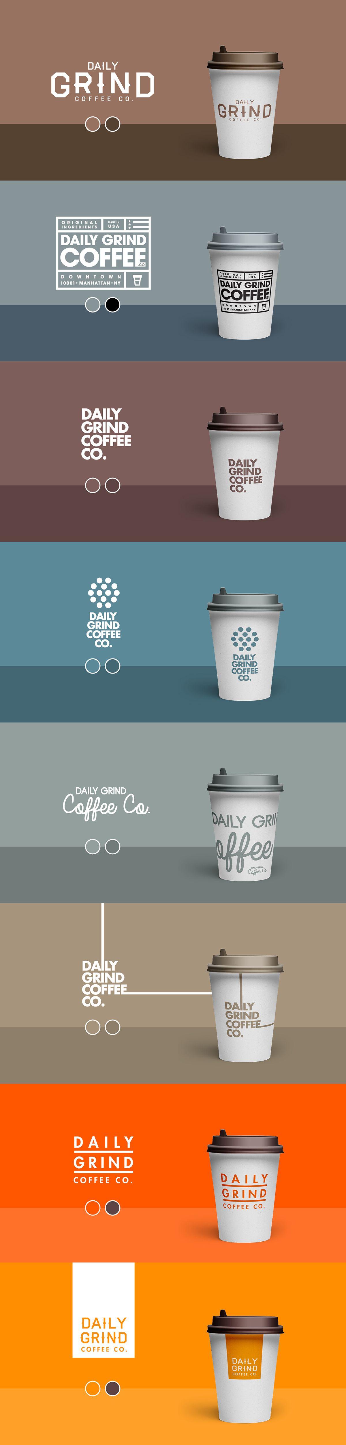 Daily grind coffee co on behance coffee shop logo