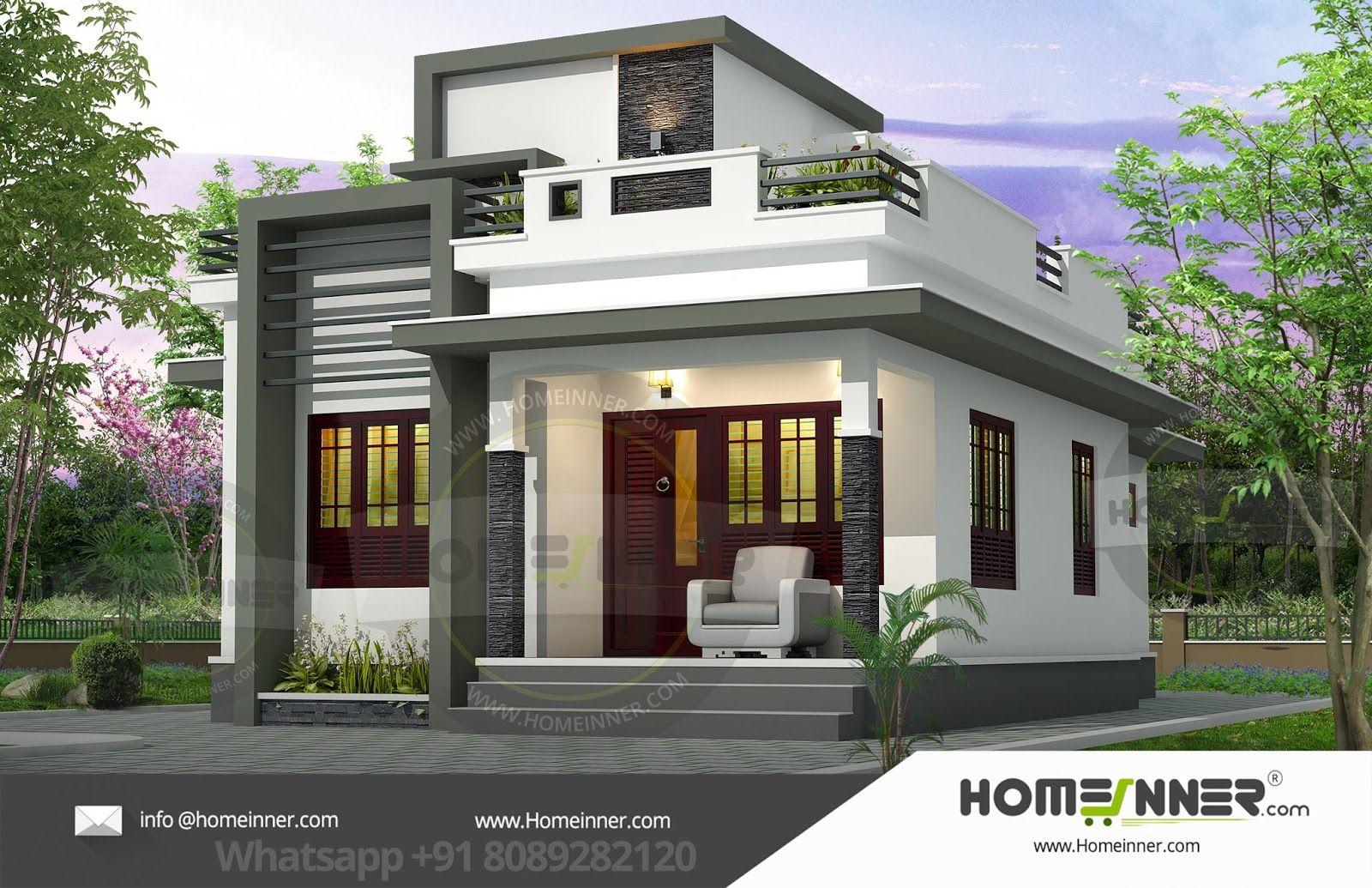 12 Lakh 2 Bhk 1033 Sq Ft Allahabad Villa Floor Plan Kerala House Design Small House Design Plans Small House Elevation Design