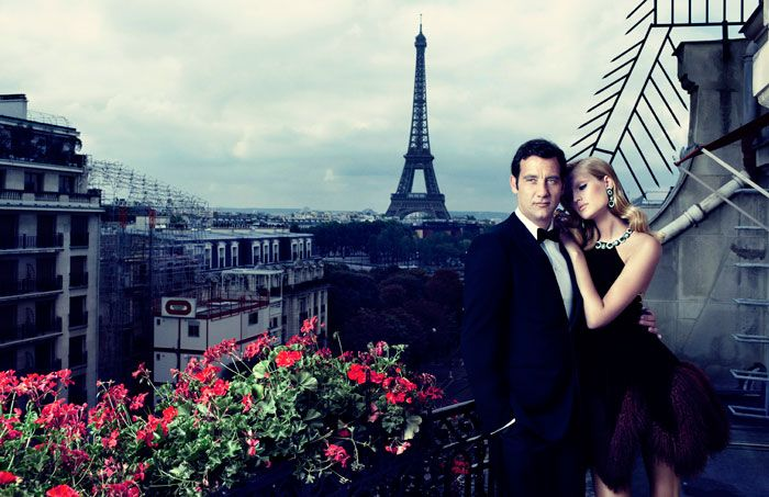 The Parisian Affair – Toni Garrn pairs up with English actor Clive Owen for a whirlwind love affair set in Paris, France for the October cover shoot of Vogue Spain. Lensed by Alexi Lubomirski with styling by Belén Antolín, Toni is quite the vixen in sparkling and glam looks from the likes of Tom Ford, Lanvin, Giorgio Armani and Stella McCartney.