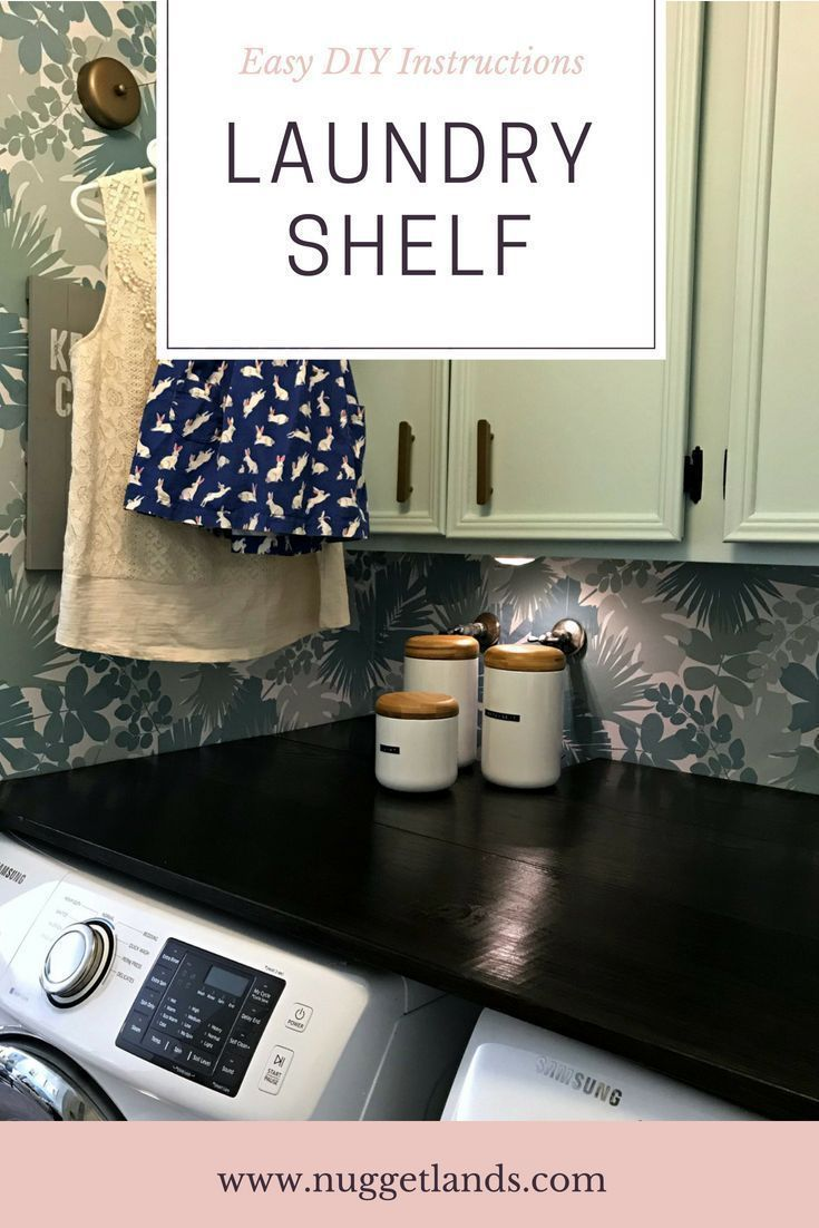 7 Secrets to Building a Do-It-Yourself Laundry Shelf images