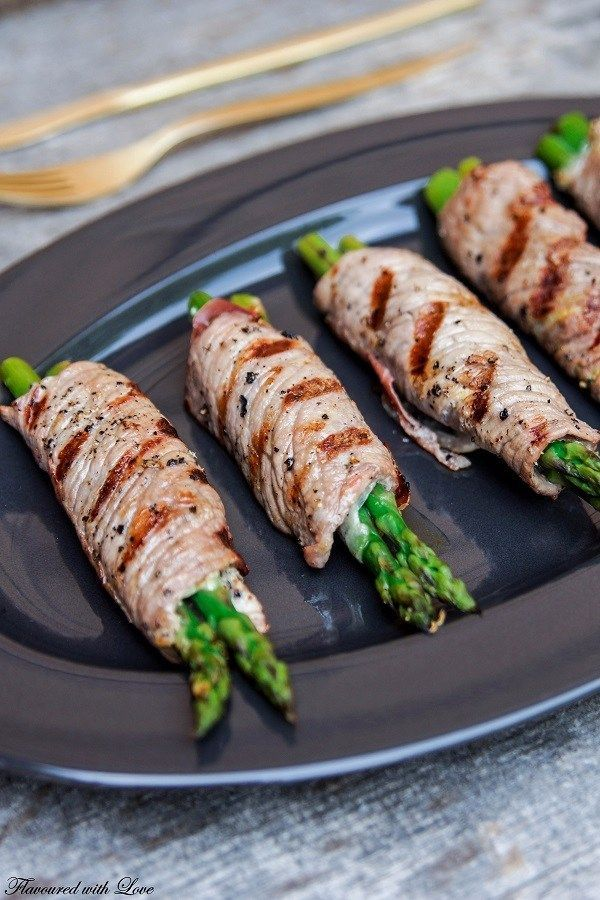 Photo of Beef Involtini with green asparagus