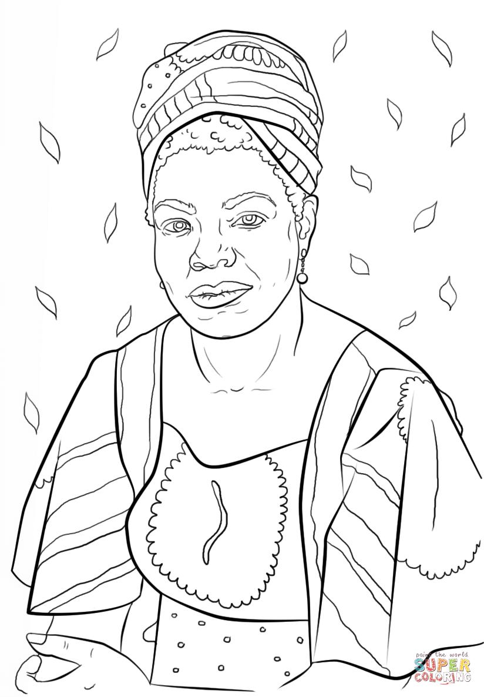 Maya Angelou Coloring Page Free Printable Coloring Pages Coloring Books Printable Coloring Sheets Coloring Pages