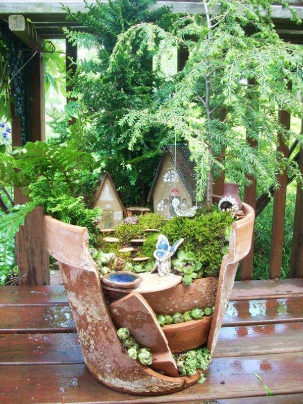 Diy Projekte Kreative Gartengestaltung Gebrochene Pflanzgefasse