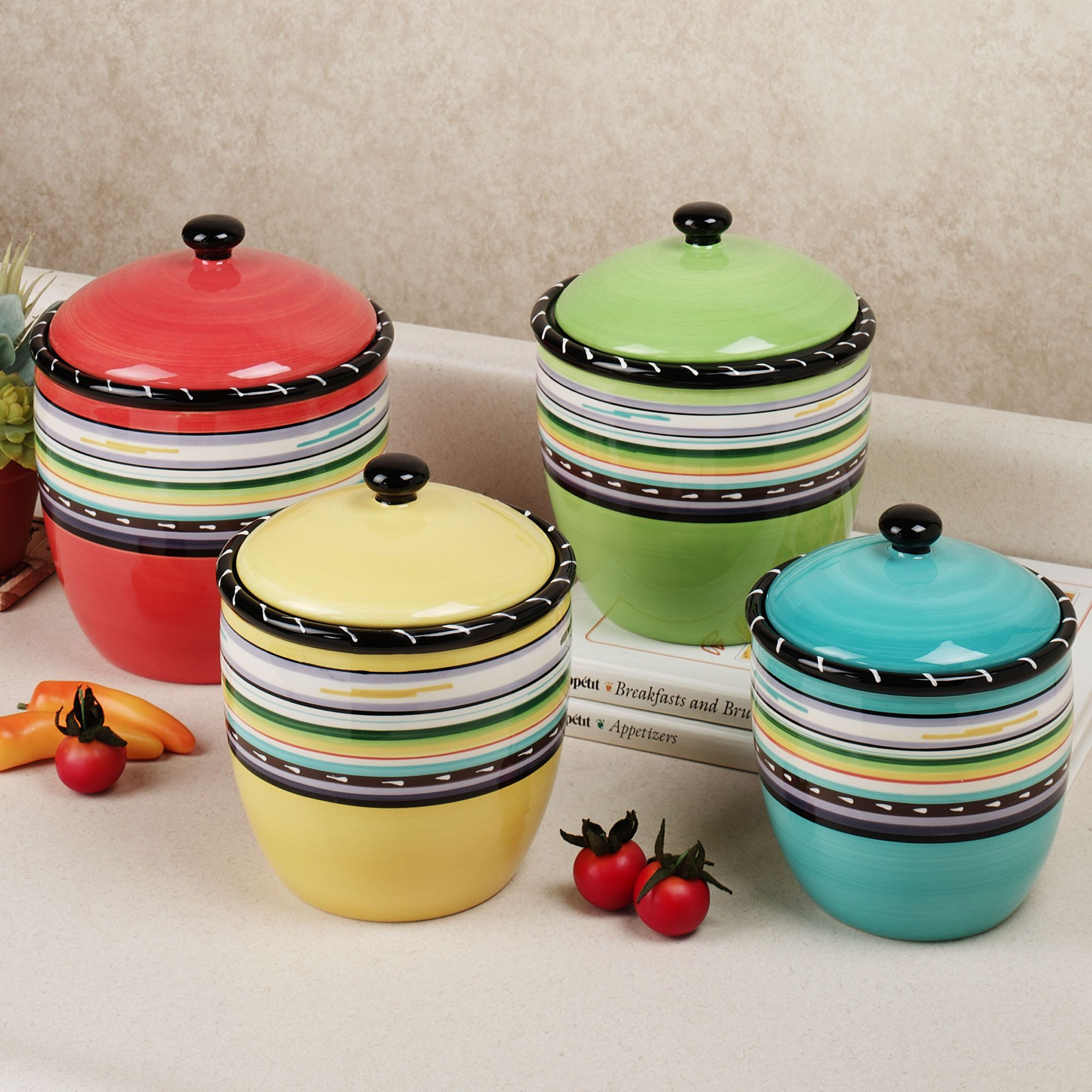 Country canister sets for kitchen - Kitchen Canister Sets