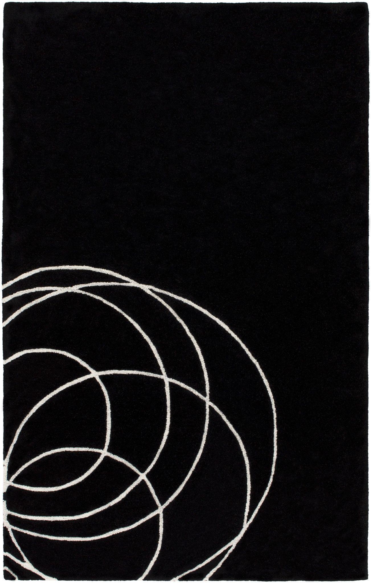 Surya Solid Bold Area Rug Black