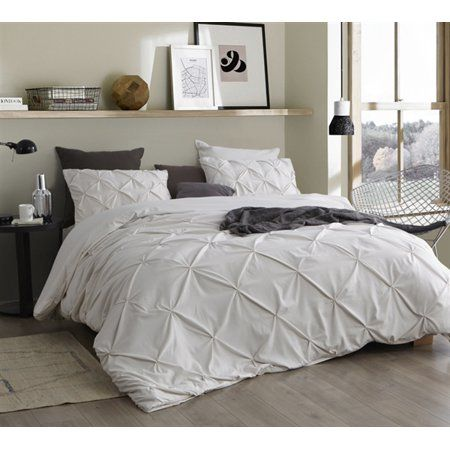 Byourbed Ruffle Pleats King Duvet Cover Jet Stream Oversized