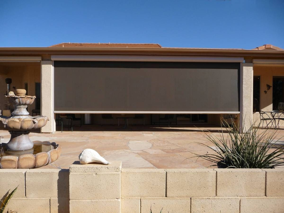 Window cxoverings for screened in patio retractable sun - Motorized exterior window shades ...