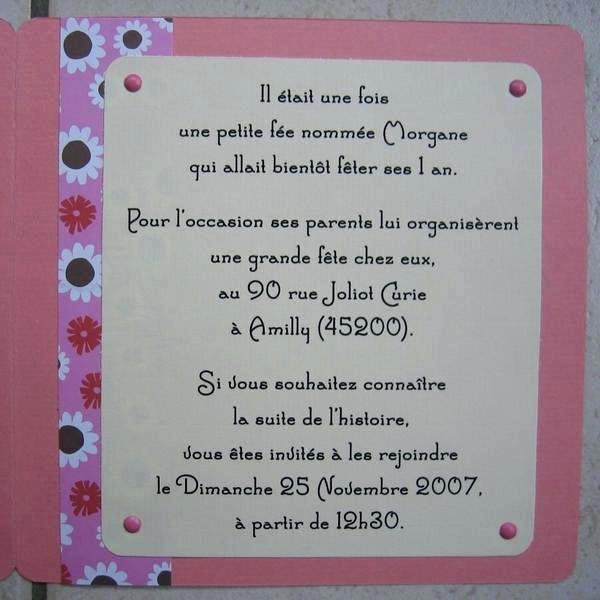 Texte D Invitation Anniversaire Original