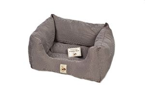 Precious Paws Square Puppy Dog Bed Checked Design Dogs