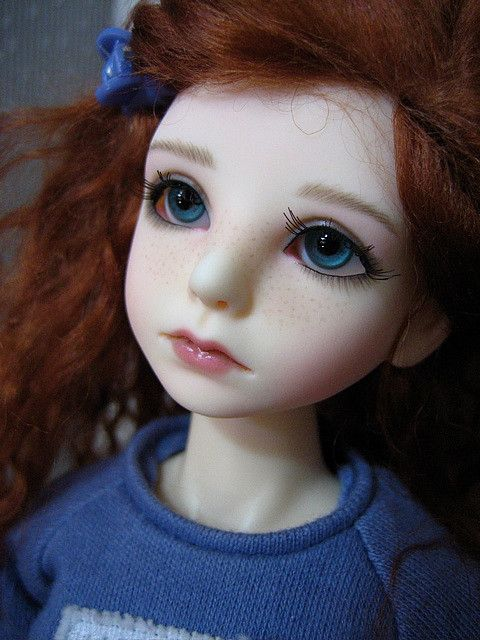 PlanetDoll Mini Riz by leahlilly on Flickr.Via Flickr: This little one is intended to look like a young teen on the verge of growing into a lovely young lady… but she still enjoys being a child. And well, a smattering of freckles is a fun touch. :0)