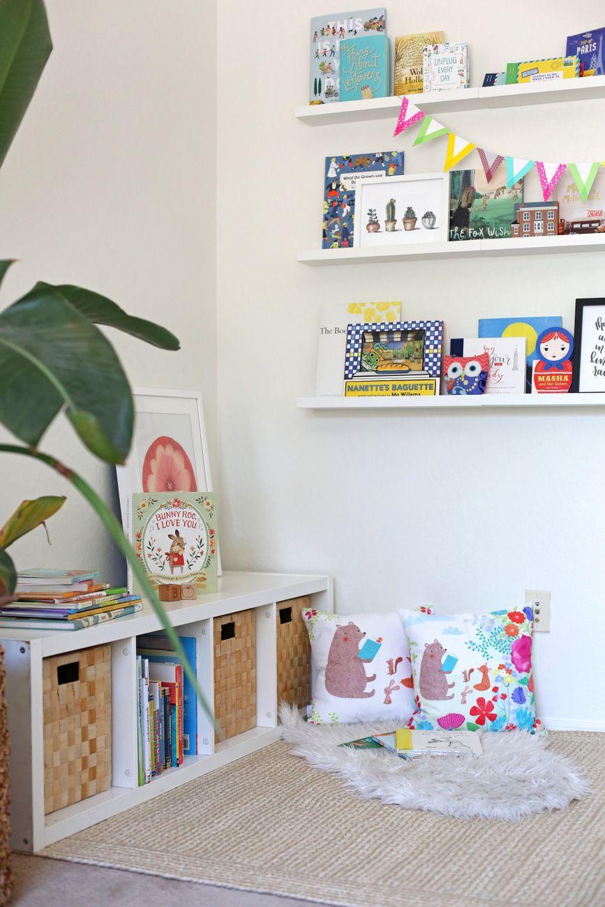 Setting Up A Book Nook Girls Bedroom Storage Kid Room Decor Ikea Living Room