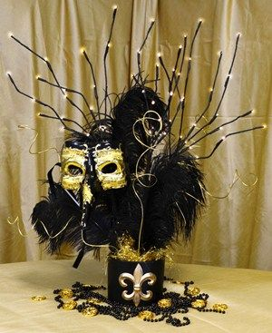 Black Gold Masquerade Mask Centerpiece Tutorial Masquerade