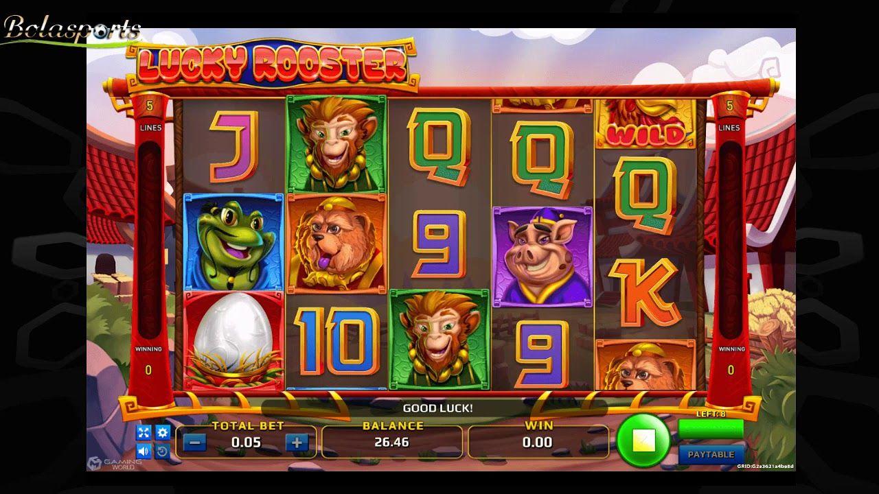 Lihat contoh permainan Slot Lucky Rooster di Situs