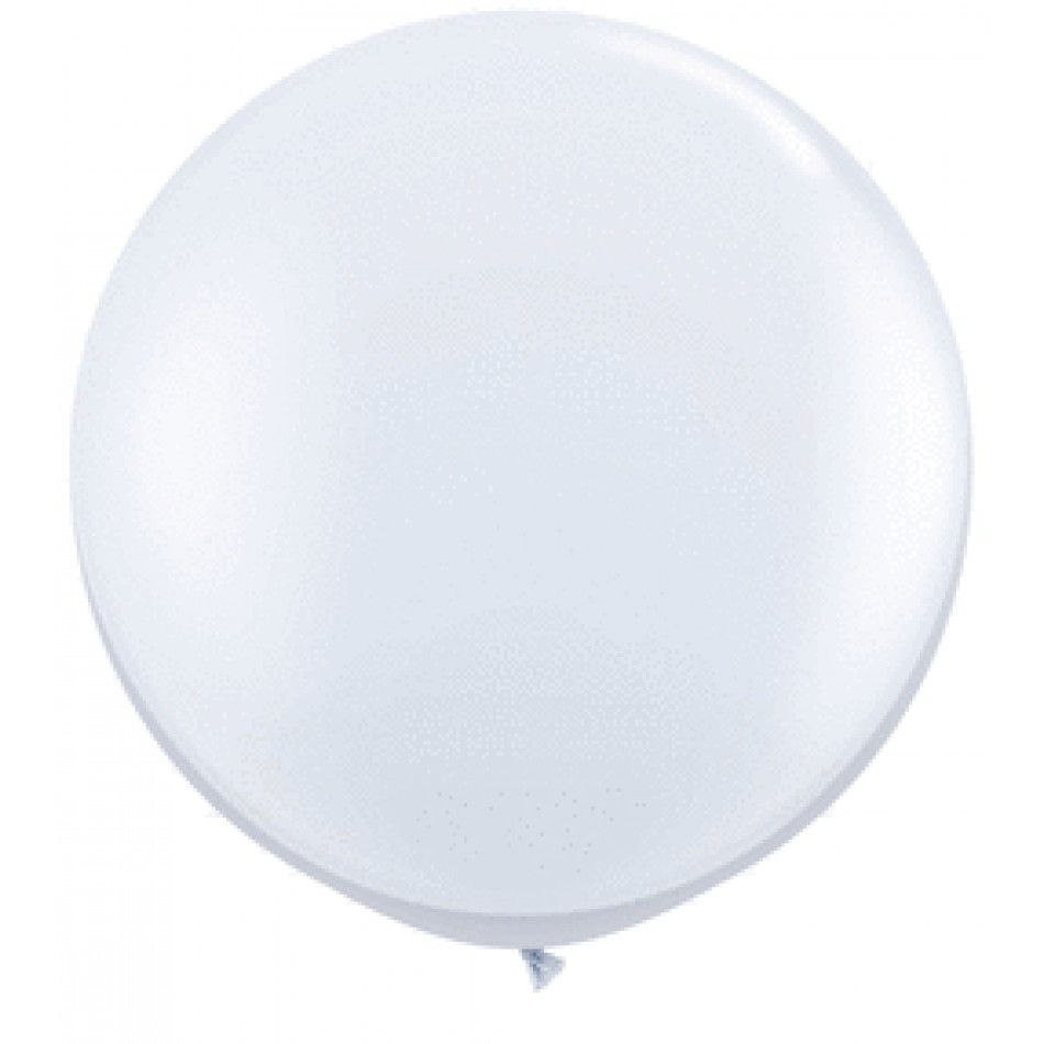 Giant Wedding Balloons - 3\' Foot Round Latex Balloon - White (Pair ...