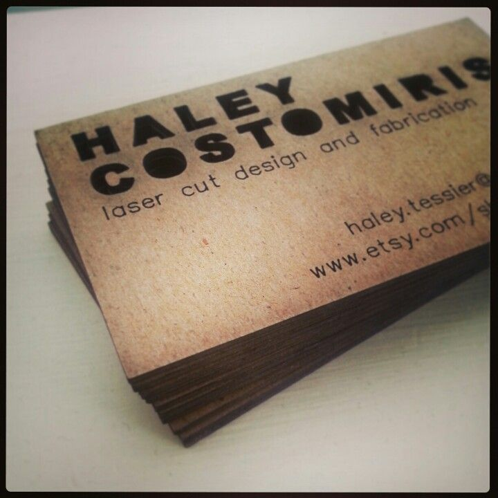 Cardboard business cards | FabParlor | Pinterest | Business cards ...