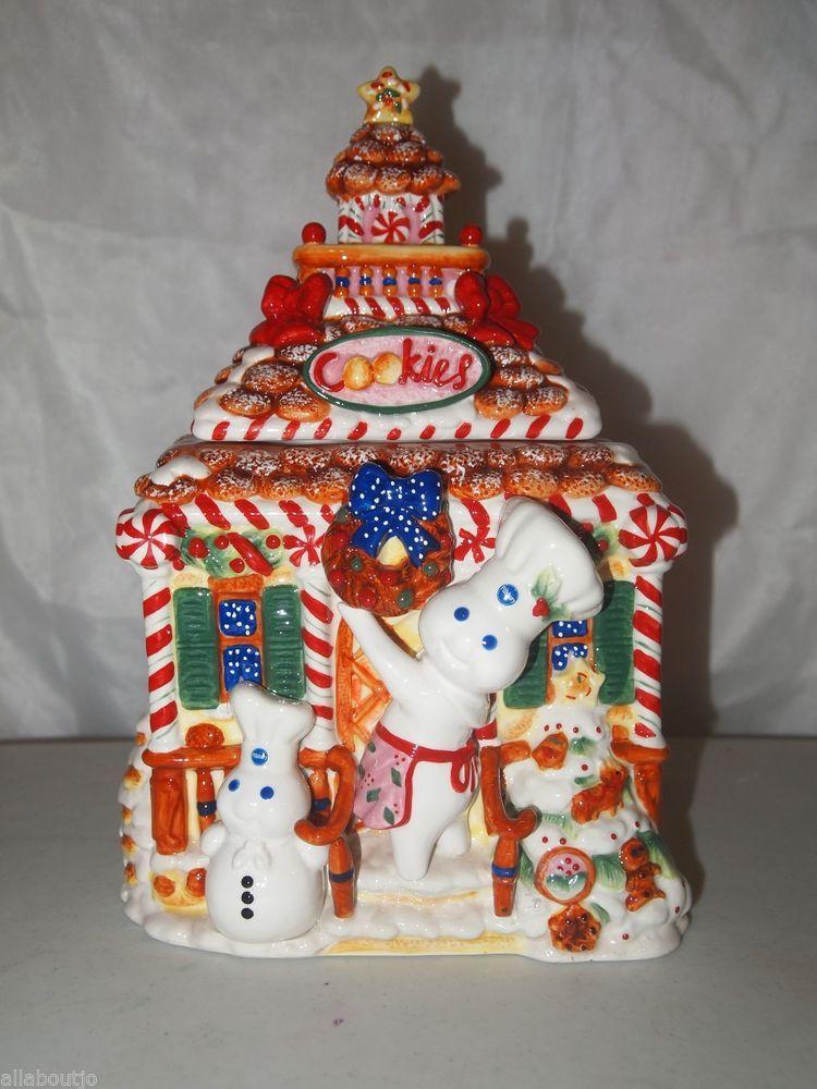 The Danbury Mint Pillsbury Doughboy Christmas Cookie Jar Htf Rare