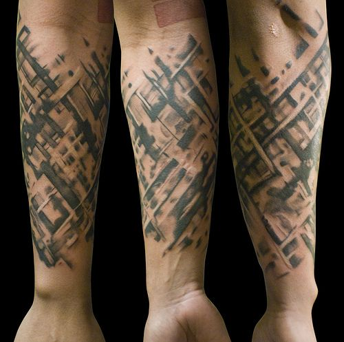 61c2e0e428c6b Abstract Sleeve | Tattoo Art | Sleeve tattoos, Tattoos, Forearm tattoos
