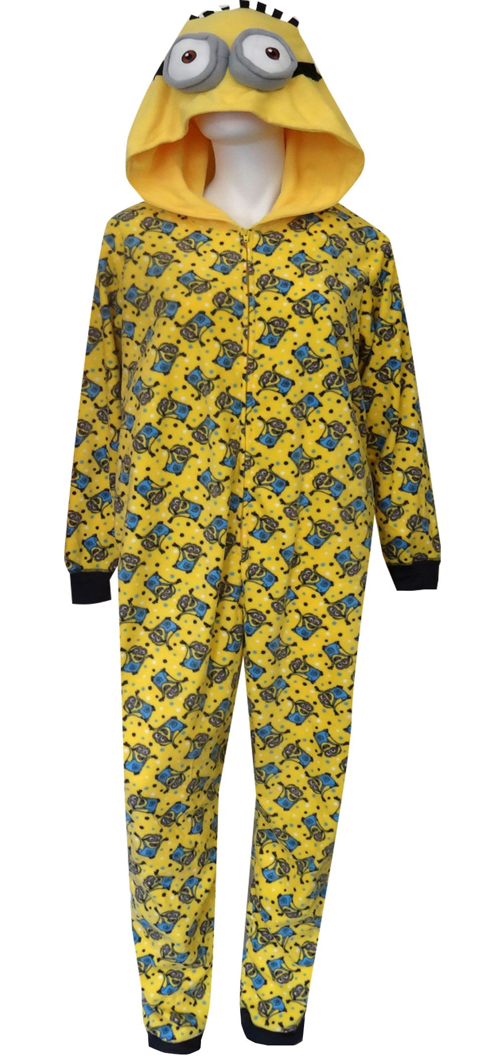 Despicable Me Minion Hooded Plus Size One Piece Pajama  2507c5e46