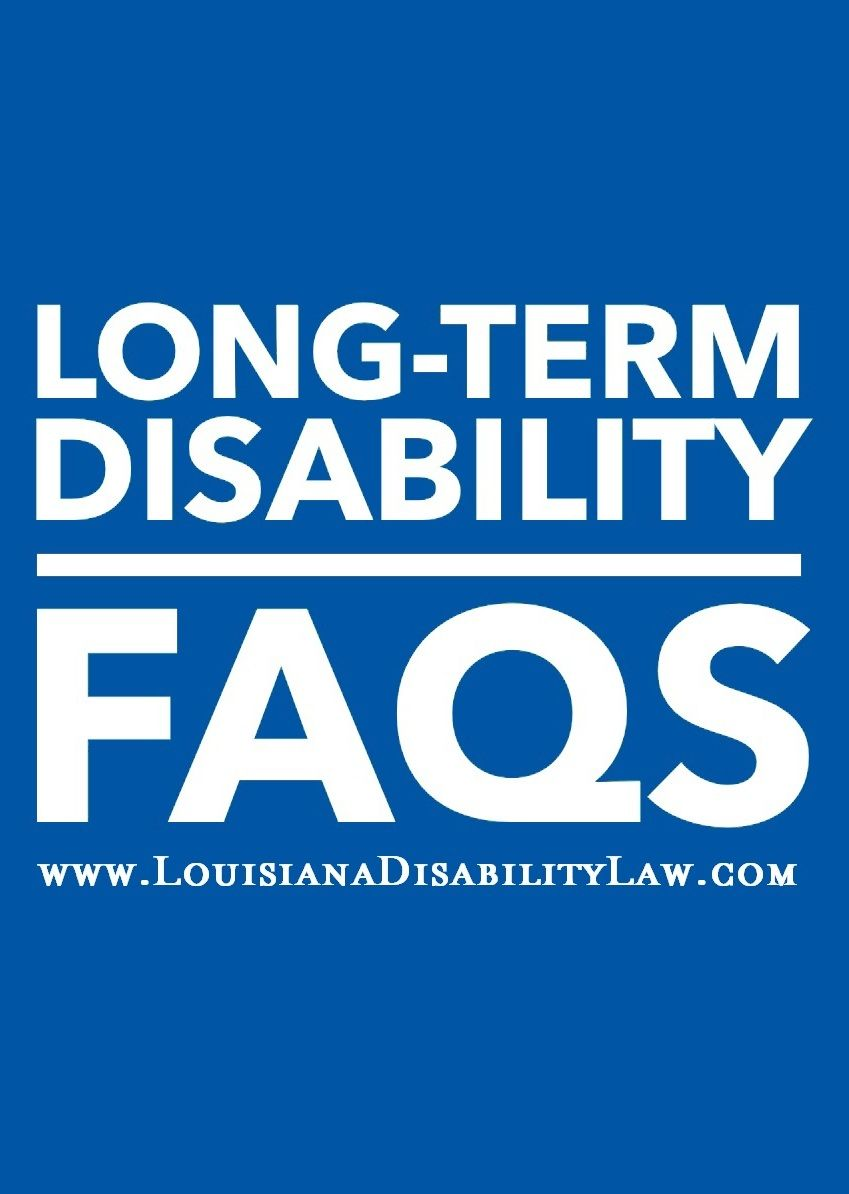 Longterm disability faqs life insurance policy this or