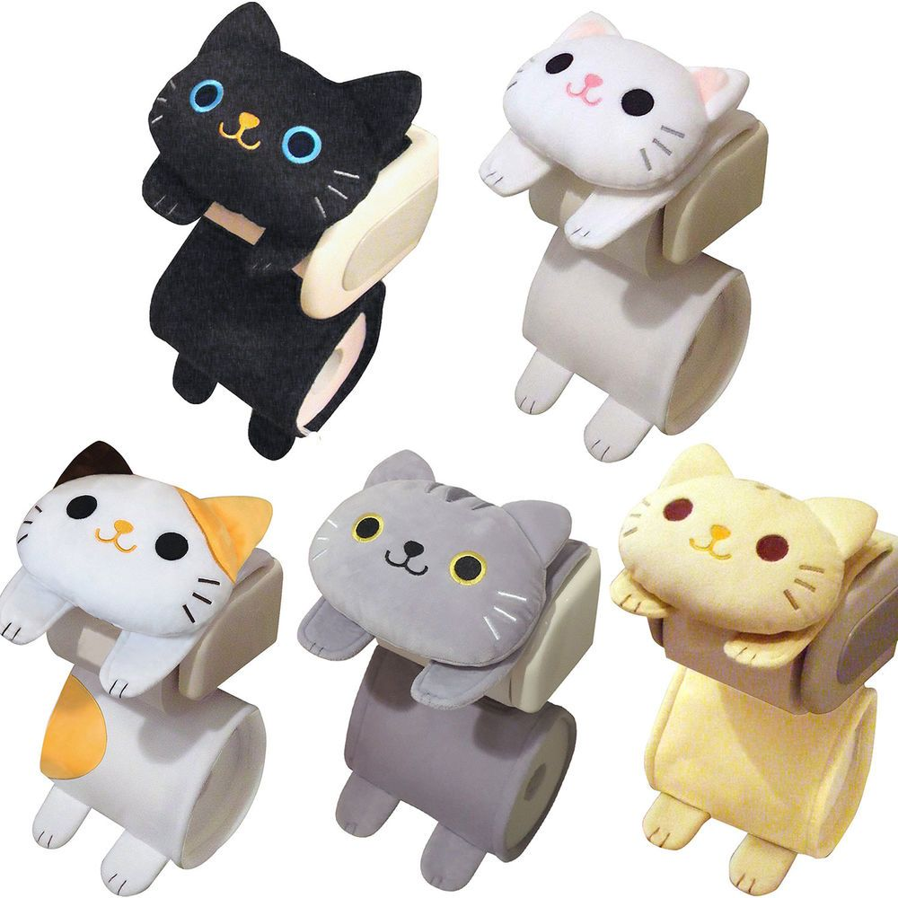 Details About Cat Toilet Paper Holder Roll Storage Cover Black