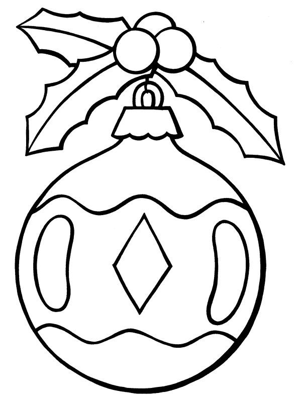 coloring pages christmas baubles hanging - photo#17