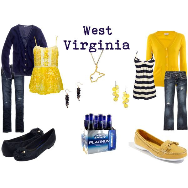 Mountaineer Style ... And yes, beer is an accessory :)  This is definitely the best outfit ever...may need to over accessorize on this one...add a six pack...lol