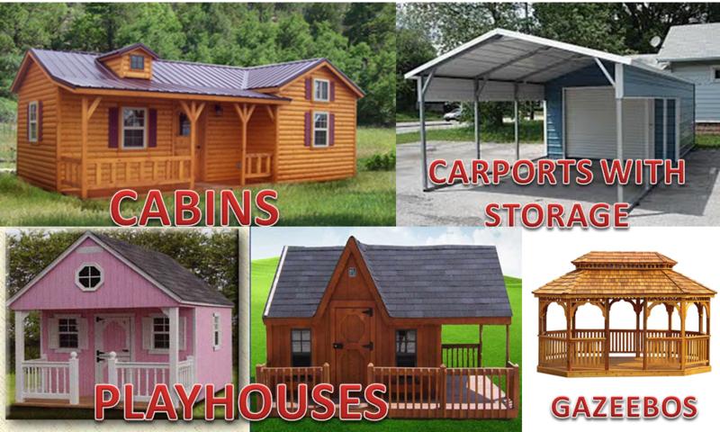 Wildcat Barns Rent Own Sheds Log Cabins Mini Garages Carports Playsets