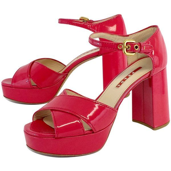 Pre-owned - Patent leather mid heel Prada jzVG5ptMe