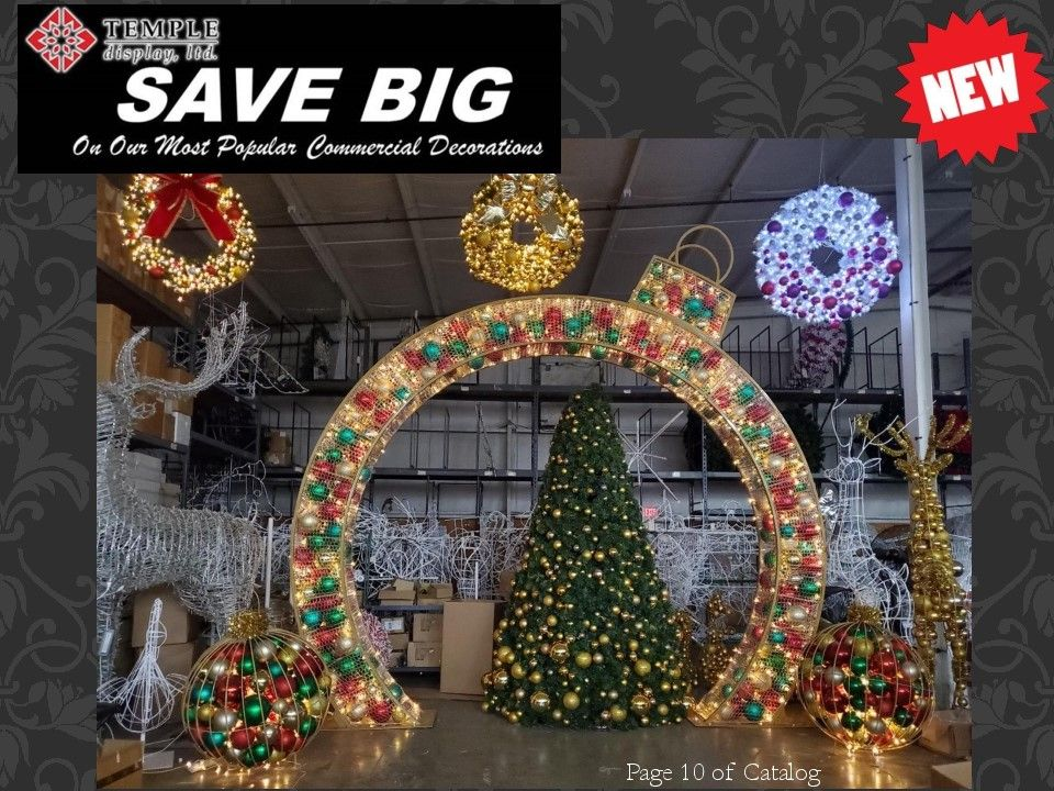 New 2020 Commercial Christmas Decorations In 2020 Commercial Christmas Decorations Commercial Holiday Decor Christmas Decorations