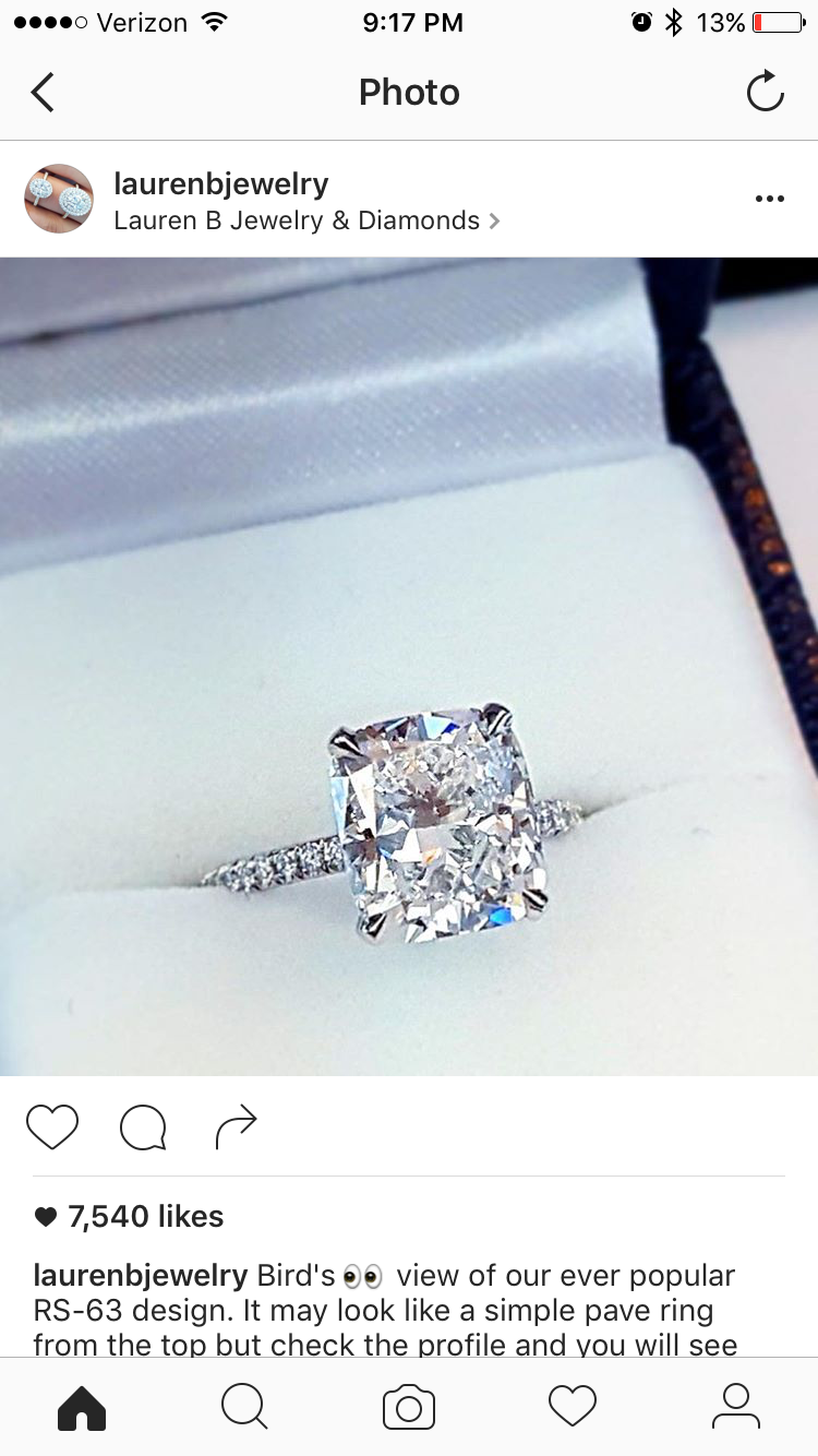 And Another Perfect Ring From Lauren B Jewelry! Rs63 With Elongated  Cushion Cut