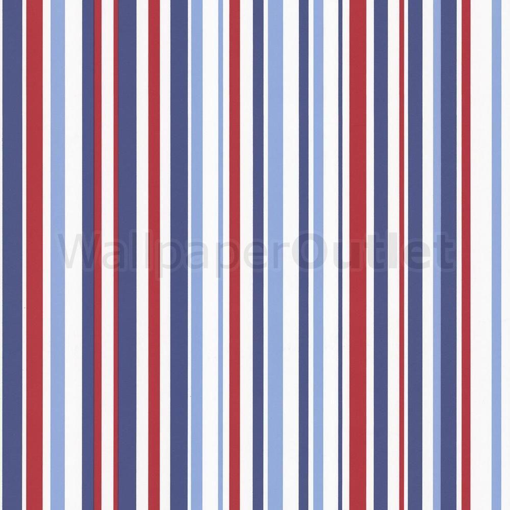 Blue stripe wallpaper ebay - Childrens Kids Blue Red Arthouse Opera Fun Super Stripe Wallpaper 533602 In Home Furniture