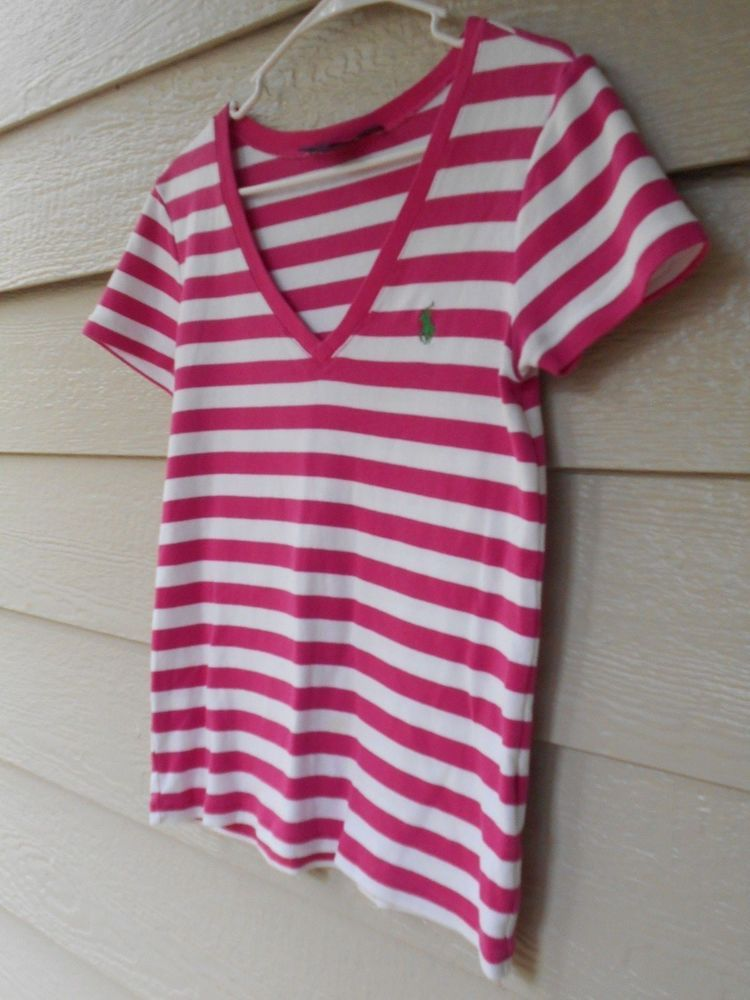8d50fab5bdb462 RALPH LAUREN SPORT Women Pink/White Striped Pullover Knit Top Size Large  Pre-Own #fashion #clothing #shoes #accessories #womensclothing #tops (ebay  link)