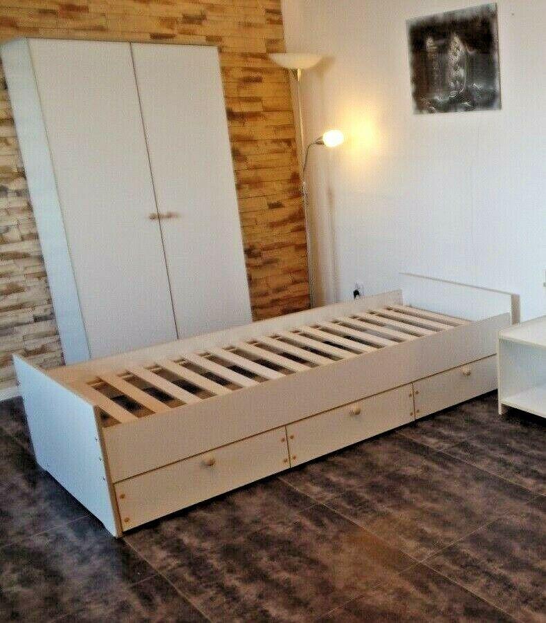 Jugendzimmer Kinderzimmer Komplett Set Bett Jugendbett Kleiderschrank Weiss Neu In 2020 Jugendzimmer Kleiderschrank Jugendzimmer Kinder Zimmer