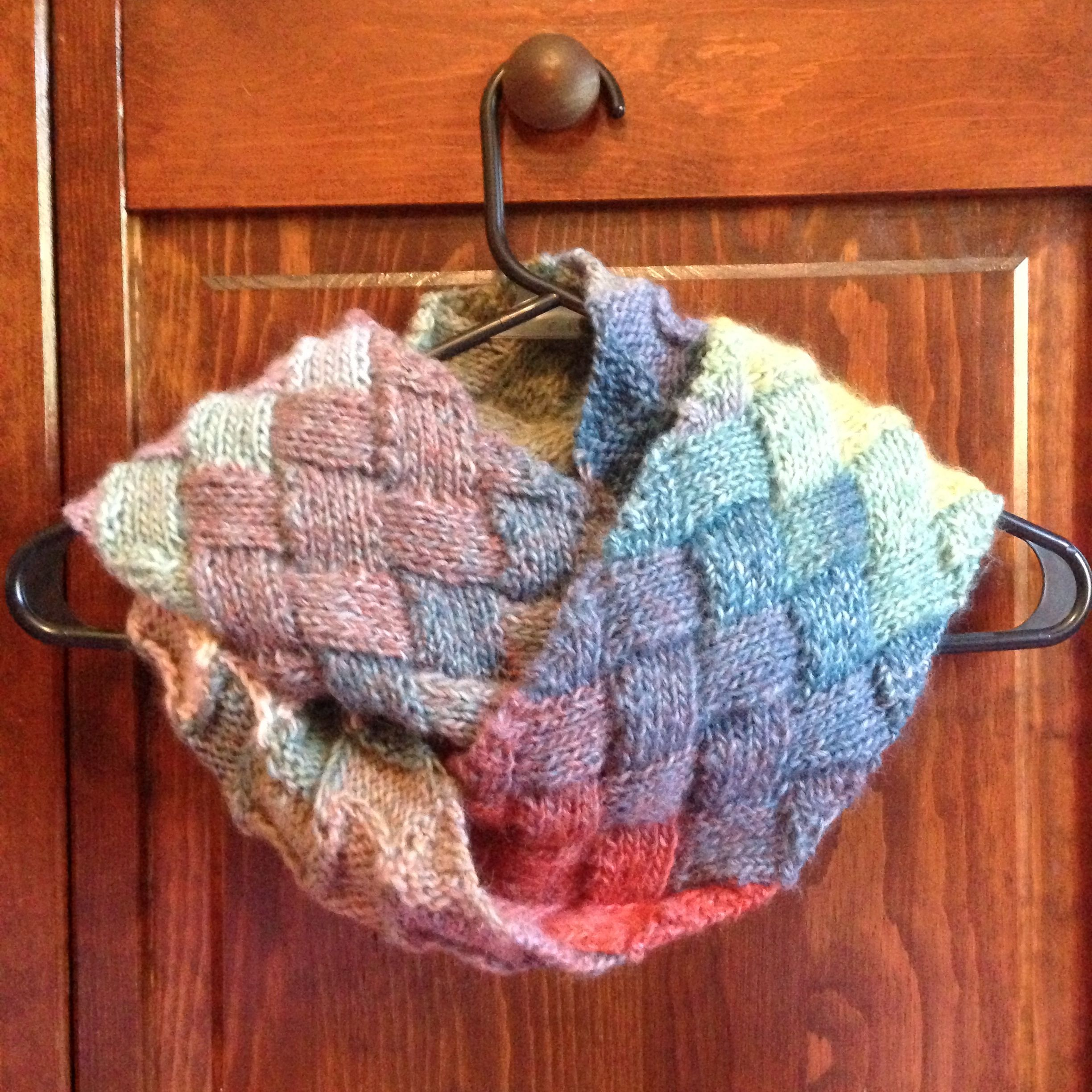 Knit entrelac infinity scarf i made using lion brand amazing color knit entrelac infinity scarf i made using lion brand amazing color changing yarn the pattern is a entrelac from knittyotter on ravelry bankloansurffo Gallery